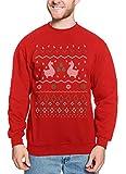 Egg Nog Ops - Video Game Ugly Christmas Unisex Crewneck Sweatshirt (Red,...