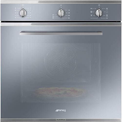 Smeg SF64M3PZS Forno da Incasso Pizza Ventilato, Classe A, 60 cm, Estetica Selezione, Silver Glass