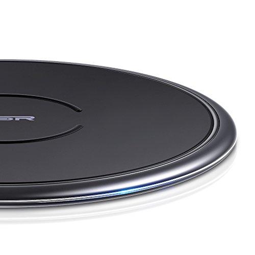 ESR 10W/7.5W Wireless Charger kompatibel mit iPhone 11/11 Pro/11 Pro Max/XS/XR/X/8/8+,Samsung S10/S10+/S10e/Note 10 Plus/S9/S9+/S8/S8+ usw.(Schwarz)