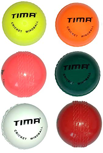 Tima Wind Ball Cricket Ball - Size: Standard (Pack of 6, Multicolor)