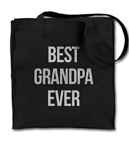 Best Grandpa Ever Family Grandparents Gift Black Canvas Tote...