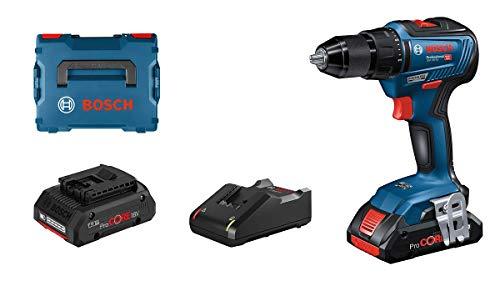 Bosch Professional 06019H5204 Gsr 18V-55-Atornillador (2 Baterías Procore X 4.0 Ah, 18V, 55 Nm, En L-Boxx), 18 V, Azul