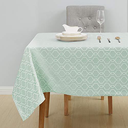 Deconovo Tischwäsche Tischtücher Wasserabweisend 137x274 cm Grün