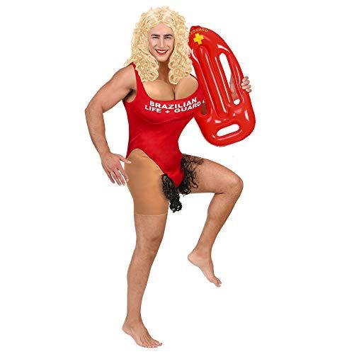 WIDMANN 02214Señor Disfraz de Brasil de baño meisterin, Rojo