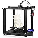 Aystkniet Creality Office Ender 5 Pro 3D Printers for Home Use, Large FDM 3D Printing Machine with Upgrade Silent Mother Board Metal Feeder Extruder and Capricorn Bowden PTFE Tubing