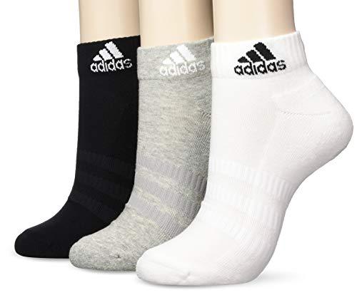 adidas Cush Ank 3pp, Socks Uomo, Medium Grey Heather/White/Black, XL