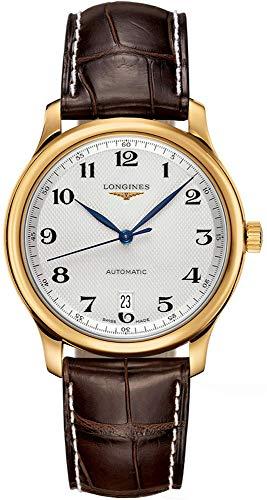 Longines watches- Longines Master Collection in oro 18K automatico trasparente custodia posteriore orologio da uomo