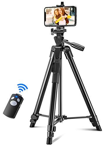 Cocoda Trépied Smartphone, 130cm Extensible Trépied Appareil Photo pour...