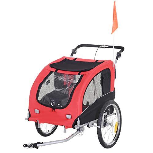 Aosom Dog Bike Trailer 2-in-1 Pet Stroller with...