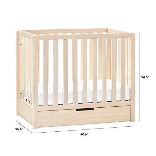 Product Image 6: Carter's by DaVinci Colby 4-in-1 Convertible Mini Crib with Trundle in Washed Natural, Greenguard Gold Certified