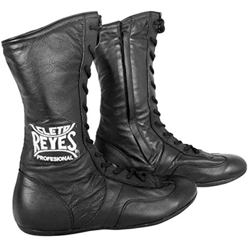 Cleto Reyes Leather High Top Lace Up Boxing Shoes - Black - 12