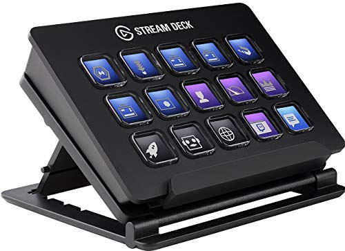 Elgato Stream Deck Individuale Controllo Creazione di Contenuti in Diretta con 15 Tasti LCD Personalizzabili, per Windows 10 e macOS 10.13 o Successivi