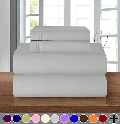 Luxurious Soft 1500 Thread Count Egyptian Quality 4-Piece Bed Sheet Set Wrinkle and Fade Resistant Coziest Bedding Set, Deep Pocket up to 16inch
