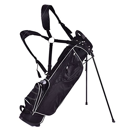 GYMAX-Golf-Stand-Bag-Lightweight-Stand-Bag-with-3-Way-4-Pocket-Organized-Easy-Storage-Stand-Bag
