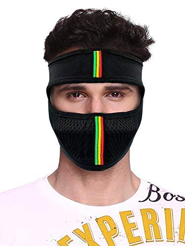 TyranT Bike Riding & Cycling Anti Pollution Dust Sun Protecion Half Ninja Face Cover Mask Black