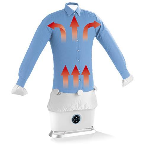 CLEANmaxx automatischer Hemdenbügler mit Dampffunktion Version 2019 | Bügler für Hemden & Blusen, Bügelautomat | Bügelpuppe mit zwei Bügelprogrammen [1800 Watt/weiß]