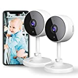 [New2021] WiFi Camera 2PCS Littlelf Security Camera, 1080P Indoor Camera Wifi Baby Monitor with 2-Way Audio, Human Detection, Night Vision, Home Surveillance Camera for Pet/Baby/Elder, Alexa Support