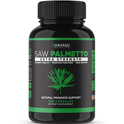 Havasu Nutrition Saw Palmetto Supplement for Prostate Health - Supports Those with Frequent Urination - Supports DHT Blocker and Hair Loss Prevention - Gluten Free, Non-GMO, 100 Caps