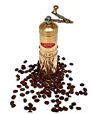 7' Handmade Manual Brass Coffee Mill Grinder Sozen, Adjustable Portable Conical Burr Coffee Mill, Portable Hand Crank Coffee Grinder, Turkish Coffee Grinder