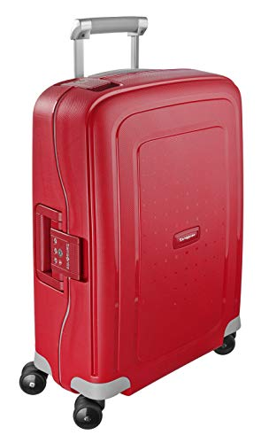 Samsonite - S'Cure - Spinner Equipaje de mano 55 cm, 34 L, Rojo (Crimson Red)