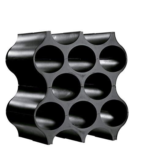 Koziol Portabottiglie modulare nero, plastica
