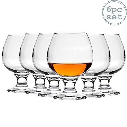 Argon Tableware Bicchiere per Brandy/Cognac Snifter - in Vetro - 390 ml - 6 Pezzi