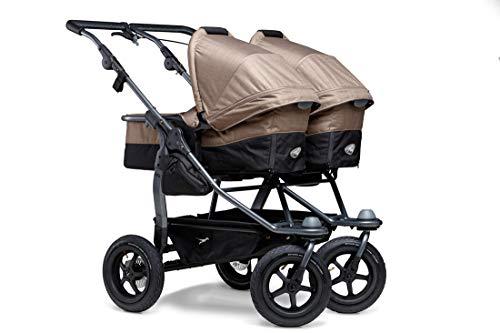 Passeggino gemellare per bambini BUGGY TFK DUO con set di trasporto ad aria (marrone)