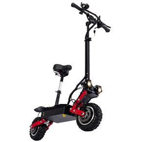 WXJZ Patinete Electrico Adultos con Asiento Scooter Potencia Motor 5600W Scooter Electrico Autonomia: 150 Km Velocidad…