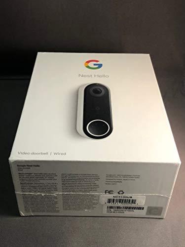 Nest Labs NC5100US NEST 3MP 160 Diagonal Full-Duplex Hello Video Door Phone Sub Station