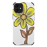 SORA 抽象芸術ワイルドフラワーデザイン iPhone12 ケース 6.1インチ 対応 アイフォン12 耐衝撃……