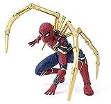 TOYSSKYR Giocattolo del Modello di Azione Infinita di Guerra di Iron Spider-Man Avengers ( Colore : Red , Dimensioni : 14*16cm )