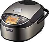 Zojirushi NP-NWC10XB Pressure Induction Heating Rice Cooker & Warmer, 5.5 Cup, Stainless Black, Made...