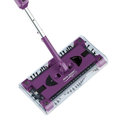 CLEANmaxx 07146 Swivel Sweeper G2 mit Ellenbogengelenk| Bodenkehrer | Akkubesen | Lila