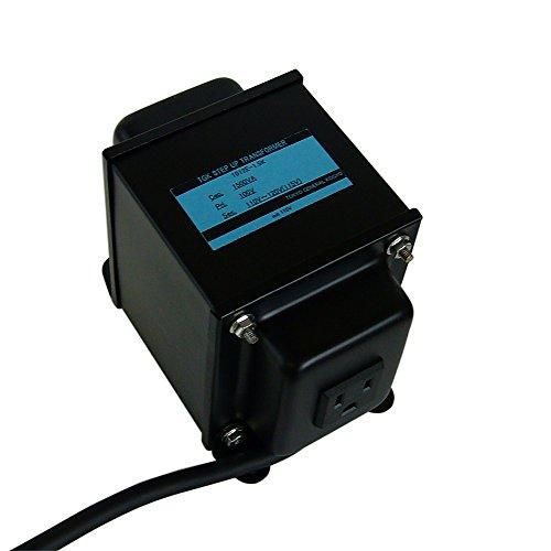 変圧器工房 日本製 変圧器 ステップアップトランス 1500W 100V→110~120V アースピン付 1012E-1.5K (海外...