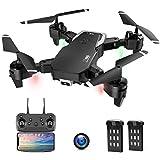 Drone con Telecamera, Droni per Principianti, 1080P HD Pieghevole Drone con WiFi FPV, 30 Minuti di Volo (2 Akku), Headless Mode, modalità Hovering, 3D Flip, Atterraggio di Emergenza