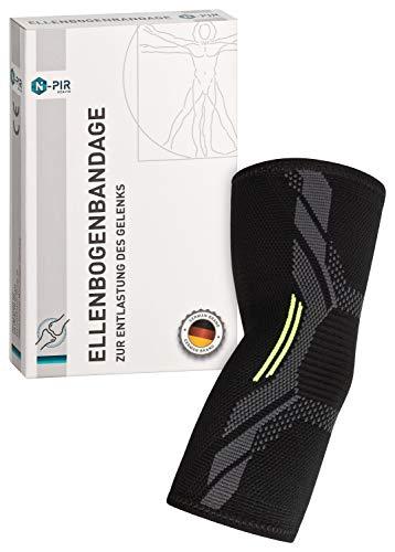 N-PIR PREMIUM ELLENBOGEN-BANDAGE I Verbessertes Konzept 2020 I schnelle Hilfe bei Sehnenscheidenentzündung oder Tennisarm I Gelenkbandage für Sport 2.0