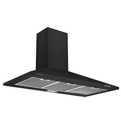 Ciarra CBCB9201 cappa con aspiratore, da cucina, 90cm, in acciaio INOX (nero)