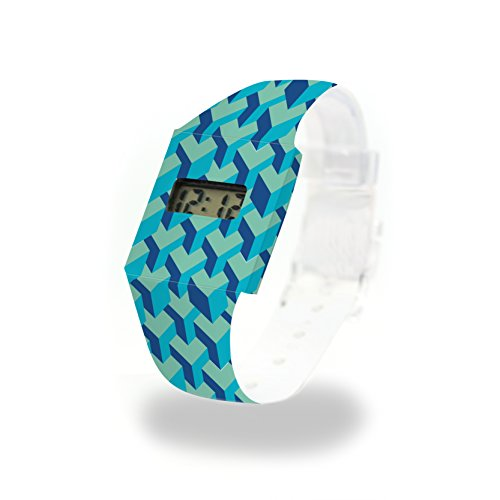 3D CUBES - Pappwatch - Paperlike Watch - Digitale Armbanduhr im trendigen Design - aus absolut reissfestem und wasserabweisenden Tyvek® - Made in Germany, absolut reißfest und wasserabweisend