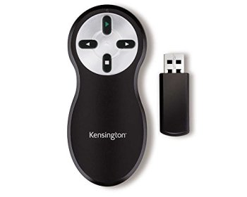 Kensington Non-Laser Wireless USB Presentation Clicker, Compatible with Windows & macOS - 20m Range (K33373EU)