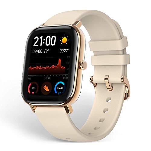 Amazfit GTS Smartwatch Fitness tracker con multitud de perfiles de actividad físcia y con GPS embebido, resistencia al agua 5 ATM (Oro)