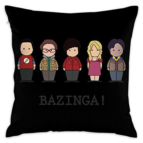 JIAYICENK The Big Bang Theory Bazinga. Funda de cojín Decorativa, Fundas de Almohada de 18 x 18 Pulgadas