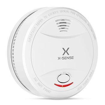 X-Sense Détecteur de Fumée Certifié VDS & TÜV Selon EN14604 avec Batterie 10 Ans, Alarme Incendie Intelligente, Capteur Photoélectrique, SD12 (Lot de 1)