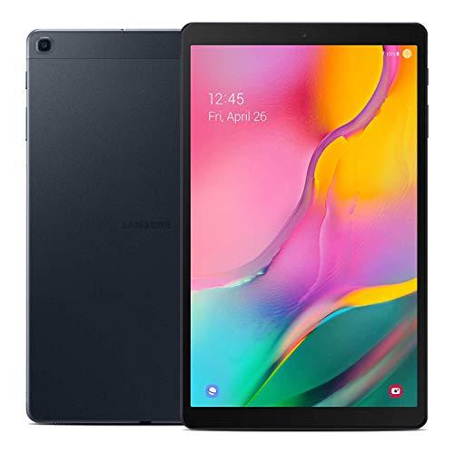 Samsung Galaxy - Tablet Tab A 10.1 pulgadas (2019, WiFi + celular) pantalla Full HD de esquina a esquina, 32GB 4G LTE tablet y teléfono (hace llamadas) GSM desbloqueado SM-T515, modelo internacional, Negro, 32 GB
