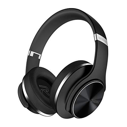 DOQAUS Cuffie Bluetooth, Autonomia 52 Ore, Cuffie Bluetooth Over Ear, 3 EQ Modalit,Paraorecchie di Proteine molle di Memoria Microfono Incorporato e Modalit Cablata,Per PC/Telefoni/iPad (Nero)