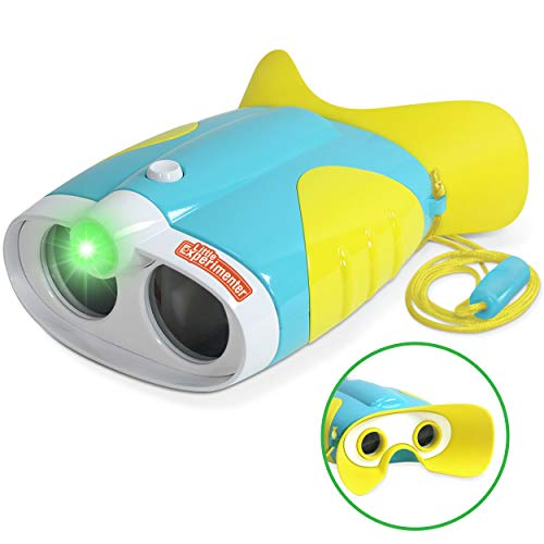 Toy Binoculars for Toddlers and Kids – Kids Toy Binoculars with Flashlight – Face Comfy Binoculars for Toddlers and Children Boys and Girls Age 3-12