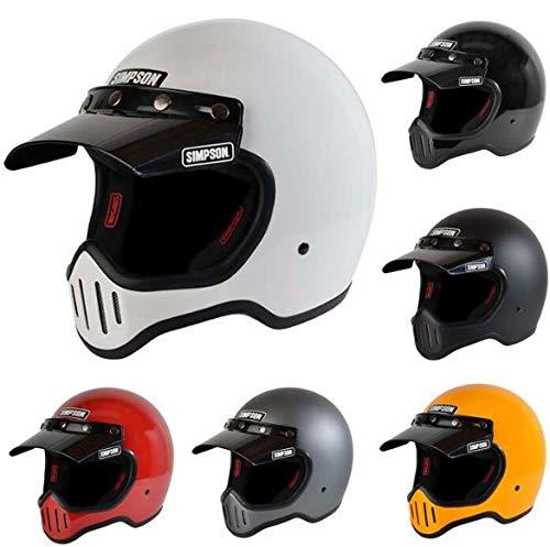 SIMPSON シンプソン M50 オフロード フルフェイス ヘルメット バイク バイザー着脱 ばくおん(S(55~56cm) ガンメタルグレイ)