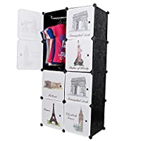 Material Characteristics: The 8 door closet organizer is made of complete PP sheet for sturdiness and durability. Each sheet measures 35 cm in length and 35 in breadth. When stacked together total height is 140 cm and breadth is 70 cm and width is 35...