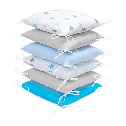 Amilian® Baby Nestchen Bettumrandung 210 cm Design37 Bettnestchen Kantenschutz Kopfschutz für Babybett Bettausstattung