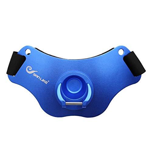 SAN LIKE Fishing Belt Aluminum Fight Belt - Adjustable Aluminum/Carbon Fiber Waist Fighting Belt Rod...