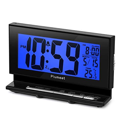 Réveil électronique avec lumière de Nuit Automatique, Grand réveil LCD...